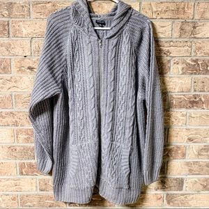 Torrid Knitted Zip Up Sweater